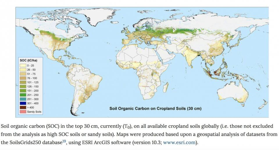 Carbon content in soil worldwide