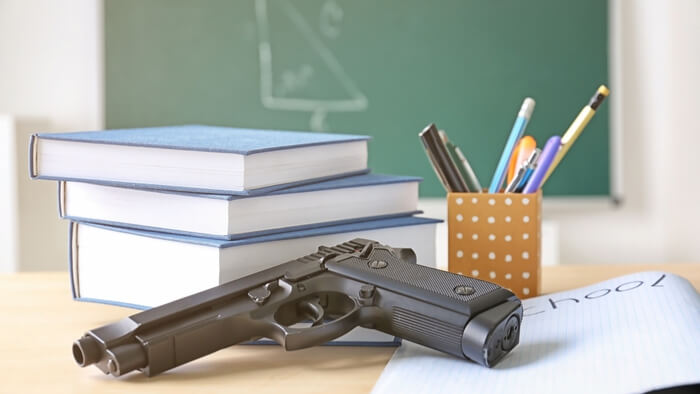 """an argument against arming teachers to stop school shootings Robl and gilmore said in most school shootings  and would be comfortable arming some teachers  """"the fact that we have to have this argument is kind of."""