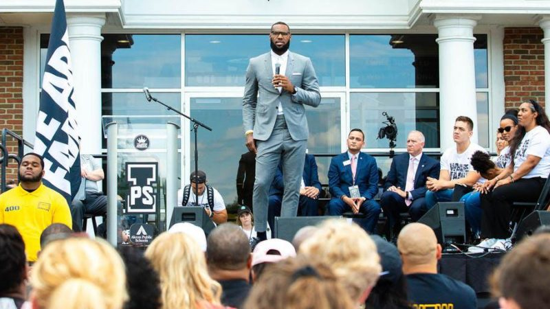 LeBron James' College Promise Giving Compass