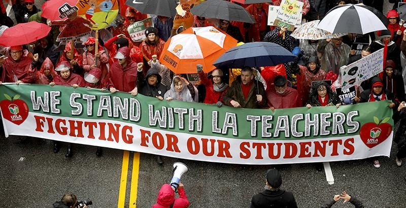 Teachers Go on Strike in Los Angeles for First Time in 30 Years Giving Compass