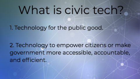 What is Civic Tech?