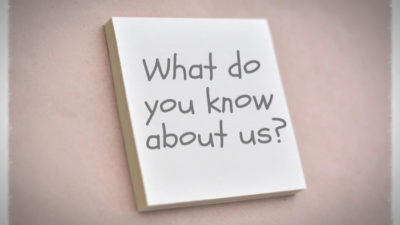 How Can You Help Us If You Don't Know Us?