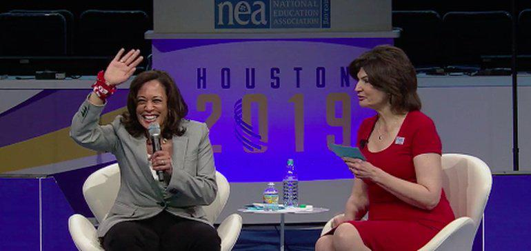 Democratic Presidential Hopefuls on Key Issues in Education Giving Compass