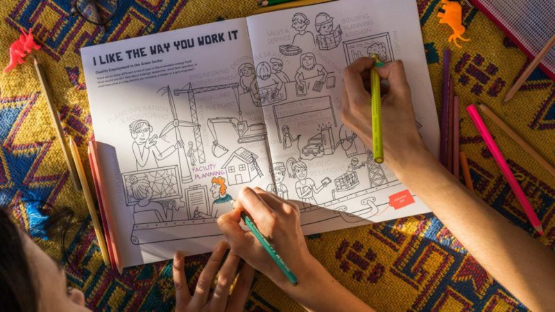 Coloring Book Illustrates How We Transition To Clean Energy Giving Compass