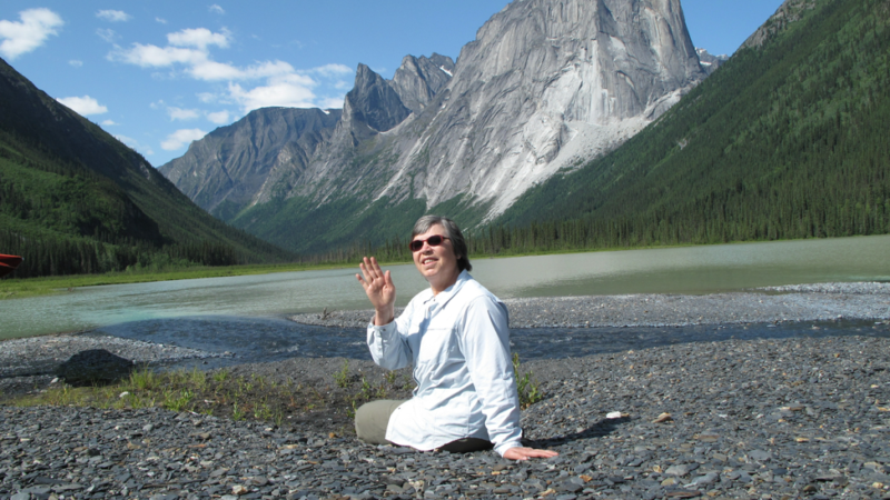 Rose Letwin in Nahanni National Park, Canada