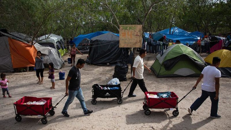 A Refugee Camp Grows on the US-Mexico Border Giving Compass