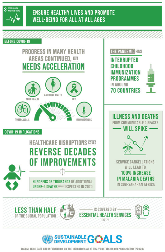 Good Health and Well-Being inforgraphic